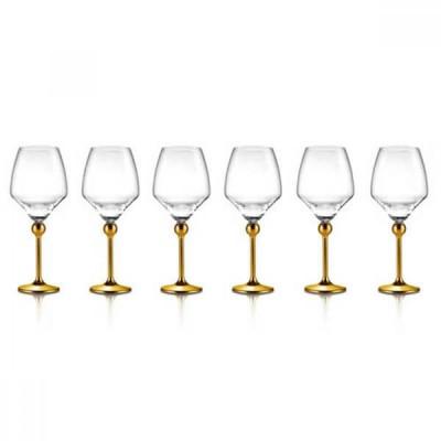 Магическая Гармония - бокалы для красного вина с позолоченными ножками, 6 шт.