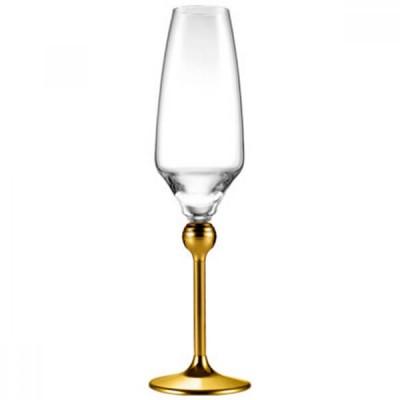 Магическая Гармония - бокалы для шампанского с позолоченными ножками, 6 шт.