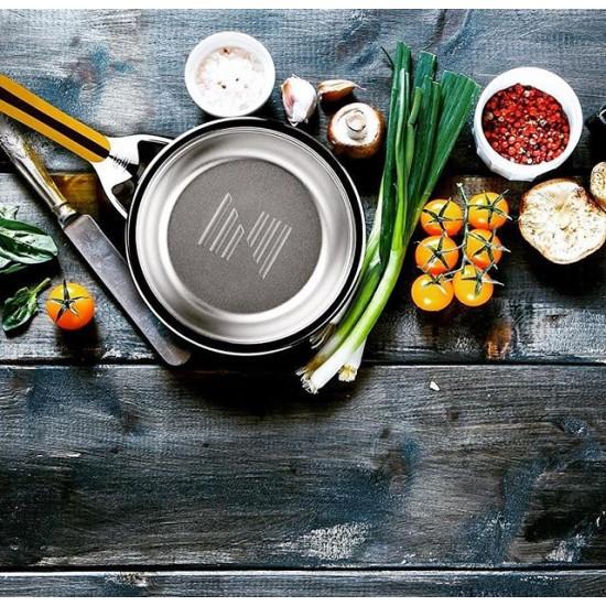 Сковорода 1.6 л, 20 см (URA-технология ), с крышкой