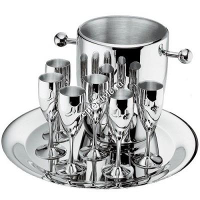 """Набор для шампанского """"Ла Перле""""  (на 6 персон, стальной)"""