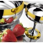 """Комплект креманок для десерта """"Барон"""" Zepter (на 6 персон, сталь с золотым декором)"""