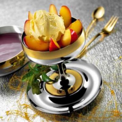 """Комплект для десерта """"Барон"""" Zepter (на 6 персон, сталь с золотым декором)"""