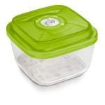 Стеклянный контейнер квадратный средний 19x19x9 см - 2,2 л