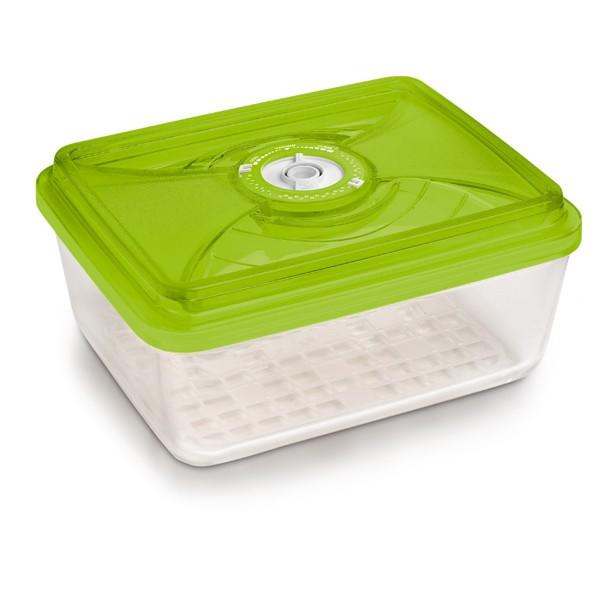 Стеклянный контейнер прямоугольный большой 26х20х9,5 см - 3,8 л