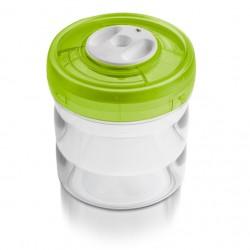 Емкость цилиндрическая малая пластиковая, d 11см,высота 12,5см -0,75 л